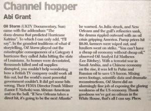 Oil Storm (UKTV Documentary) The Daily Telegraph 4/06/07